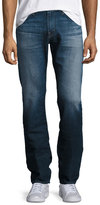 AG Adriano Goldschmied Graduate Straight-Leg Denim Jeans, Blue