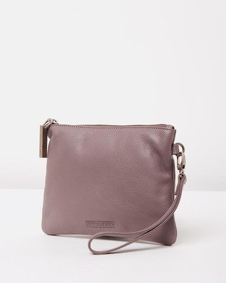 Stitch & Hide - Women's Purple Leather bags - Cassie Clutch - Size One Size at The Iconic