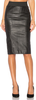 Blaque Label Leather Pencil Skirt
