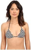 Vitamin A Swimwear Natalie Miter Stripe Triangle Bikini Top
