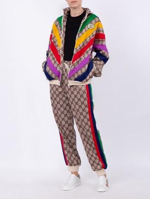 Gucci Multicolor Chevron Gg Supreme Jacket