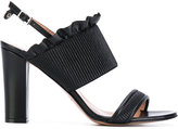 Twin-Set frilled trim sandals - women - Leather - 36