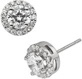 Diamonore Sterling Silver 1 1/2-ct. T.W. Simulated Diamond Halo Stud Earrings