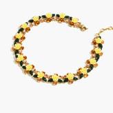 J.Crew Firefly flower collar necklace
