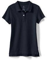 Classic Little Girls Short Sleeve Fem Fit Mesh Polo-White