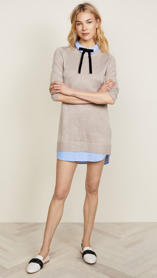 Thumbnail for your product : ENGLISH FACTORY Combo Shirtdress