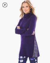 Chico's Violette Stripe-Inset Sweater