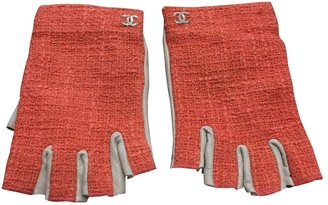 Chanel Orange Leather Gloves