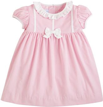 Little English Girl's Caroline Ruffle Bow Dress, Size 12M-6