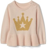 Gap Shimmer crown peplum sweater