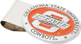 Cufflinks Inc. Men's Pewter Oklahoma State Cowboys Money Clip