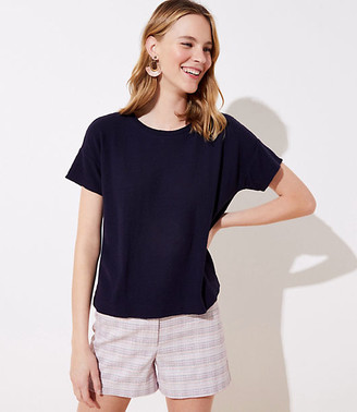 LOFT Textured Dolman Cropped Tee