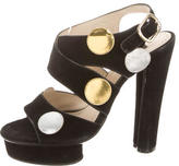Marc Jacobs Suede Platform Sandals