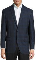 Michael Michael Kors Windowpane Check Wool Suit Jacket