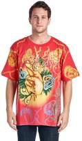 Christian Audigier Mens T Shirt Luck Rhinestone Tee