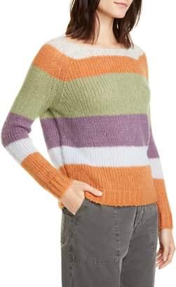 NSF Daja Stripe Raglan Sleeve Sweater