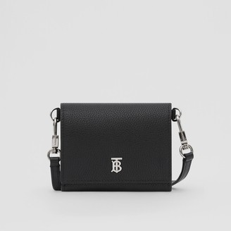 Burberry Small Grainy Leather Wallet with Detachable Strap
