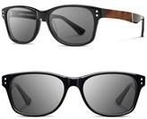 Shwood 'Cannon' 54mm Polarized Acetate & Wood Sunglasses