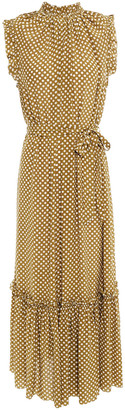 Zimmermann Super Eight Ruffled Polka-dot Silk Crepe De Chine Midi Dress