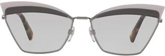 Valentino Eyewear tinted cat-eye sunglasses