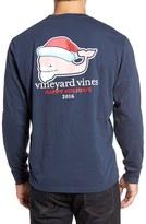 Vineyard Vines Men's Bearded Santa Whale Graphic T-Shirt