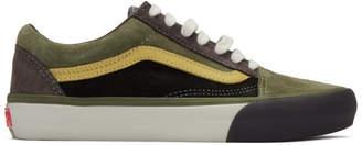 Vans Grey and Green Old Skool Vault LX Sneakers