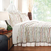 GREENLAND HOME FASHIONS Greenland Home Fashions Bella Ruffle Stripe Quilt Set