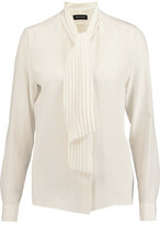 Vanessa Seward Andree Pussy-Bow Silk Crepe De Chine Blouse