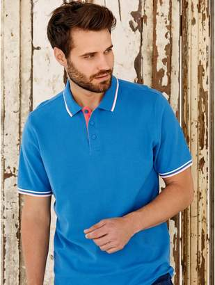 M&Co Contrast trim polo shirt