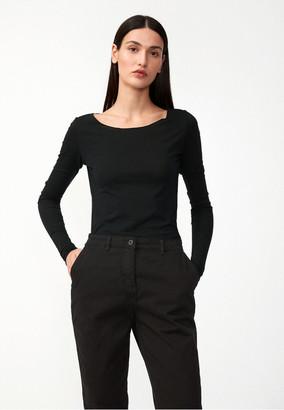 Armedangels Evvaa Customized Black Long T Shirt - xs