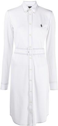 Polo Ralph Lauren Embroidered-Logo Shirt Dress
