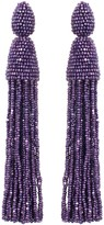 Oscar de la Renta Violet Classic Long Tassel Earrings