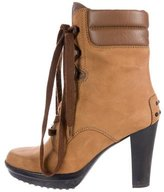 Tod's Nubuck Leather Ankle Boots
