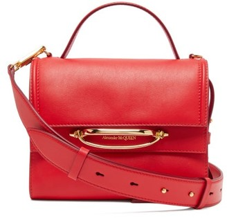 Alexander McQueen The Story Small Leather Bag - Womens - Red Multi