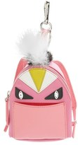 Fendi Women's 'Monster' Genuine Fox & Nutria Fur Trim Backpack Bag Charm - Pink