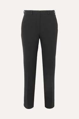 Etro Cropped Crepe Slim-leg Pants - Black