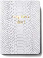 Graphic Image Leather Journal, White