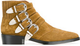 Toga Virilis multi-buckle boots - men - Leather/Suede - 40