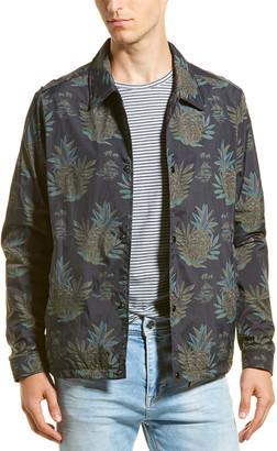 Vince Tropical Print Coaches Jacket