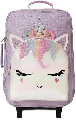 OMG Accessories OMG Miss Gwen Flower Crown Sparkle Unicorn Rolling Suitcase