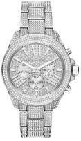 Michael Kors Wren Crystal Pave Stainless Steel Chronograph