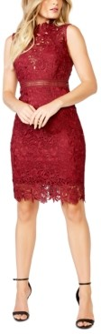 Bardot Lace Mock-Neck Sheath Dress