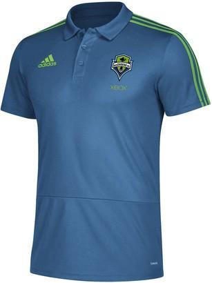 adidas Men's Blue Seattle Sounders FC 2018 Coaches climalite Polo