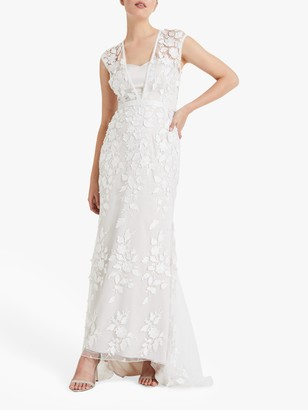 Phase Eight Bridal Phase Eight Peony Lace Wedding Dress, Almond