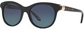 Tiffany & Co. TF4125 Polarised Oval Sunglasses, Black