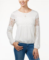 American Rag Crocheted Peasant Top, Only at Macy's