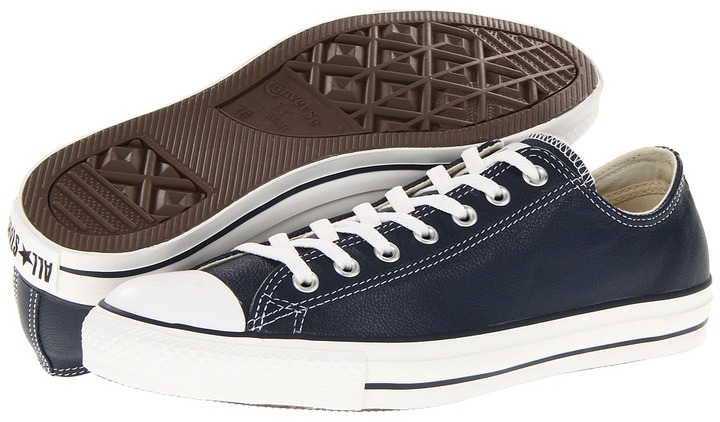Converse Chuck Taylor All Star Ox Leather (Athletic Navy Leather) - Footwear