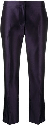 Alexander McQueen Mid-Rise Cropped Trousers