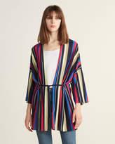 Anna Seravalli Multicolor Striped Kimono Cardigan