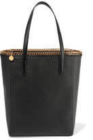 Stella McCartney The Falabella Faux Textured-leather Tote - Black